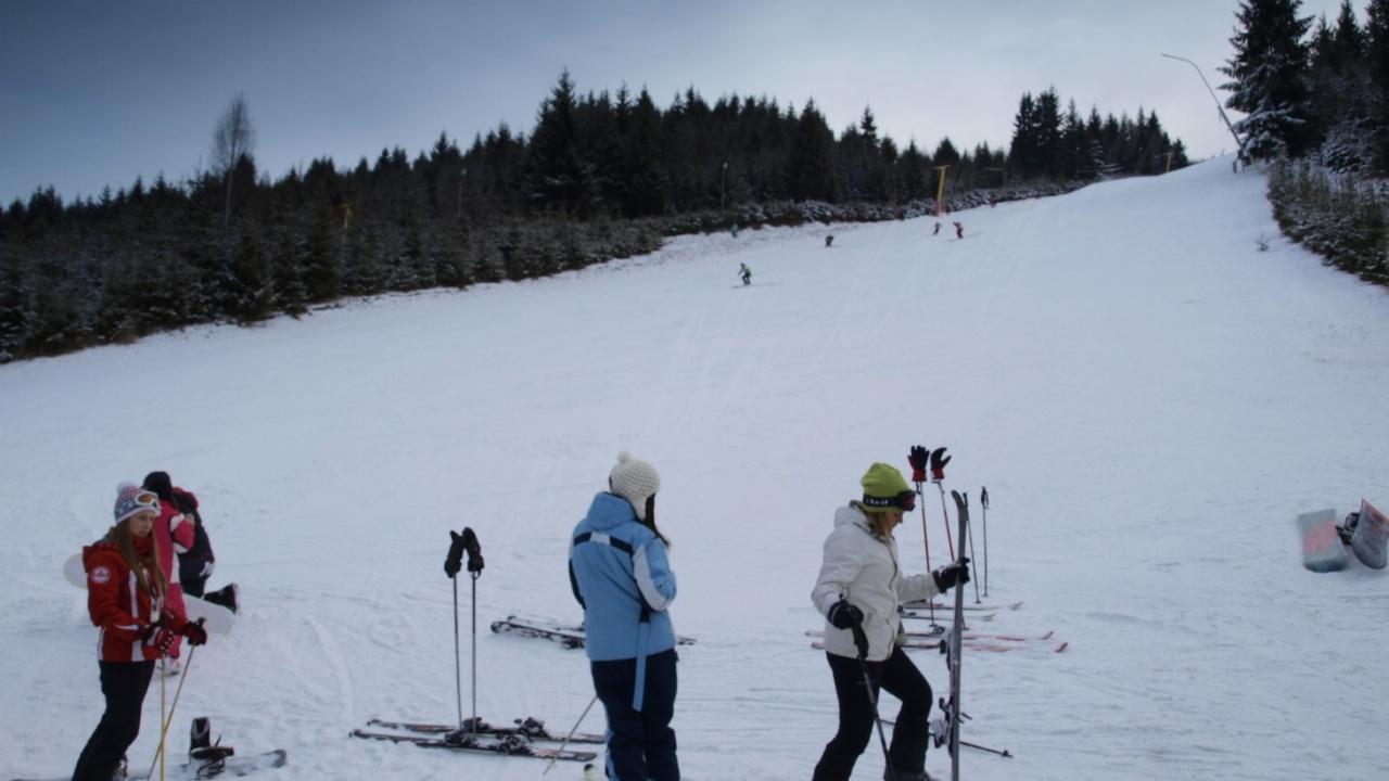 partie de ski